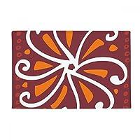 茶色の菊メキシコトーテムの古代文明の描画 アンチスリップマット浴室床カーペットをリビングルーム・キッチン扉16 x 30とquot ; quot ;ギフト