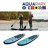 Aquaparx サーフボード スタンドアップパドルボード ソフトボード 305cm(長さ)*71cm(幅)*10cm(厚み)ロングサーフボード sup ボード 初心者6点SET ブルー