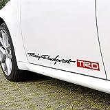 TRDパーソナリティサイドスカートデカールステッカークリエイティブデカールビニールステッカートヨタカローラカーミープラドハイランダーRAVと任意のSUV、トラックまたはセダンカーカラーレッドブラック [並行輸入品] - 1,348 円
