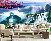 Bzbhart カスタム写真の壁紙大3Dステレオロマンチックな風景滝テレビの背景3D壁画壁紙-120cmx100cm