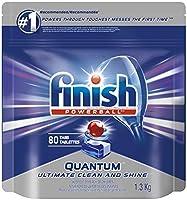 食器洗い機用洗剤、クアンタムマックス、フレッシュ、メガバリューパック、80錠、シャイン、ガラス保護