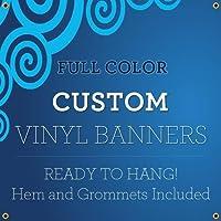 新しい4' x16'カスタムフルカラービニールバナーインドア/アウトドアPersonalized Banners with Grommetsカスタムビニールパーティー/誕生日バナーをTrue SolventインクSigns by BannerBuzz