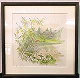 『コペンハーゲンの植物園』 by マッス・ステイユ  300x300mm  額付き