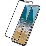 iPhone X フィルム,AOOCO 業界最強硬度 日本旭硝子素材採用 ケースに干渉せず仕様 2.5D全面保護 強化 ガラスフィルム iPhoneX 専用設計 全面フルカバー 液晶保護フィルム 2.5Dラウンドエッジ加工 アイフォン X /アイホン 10 対応(iPhone X, 2.5D-ブラック)