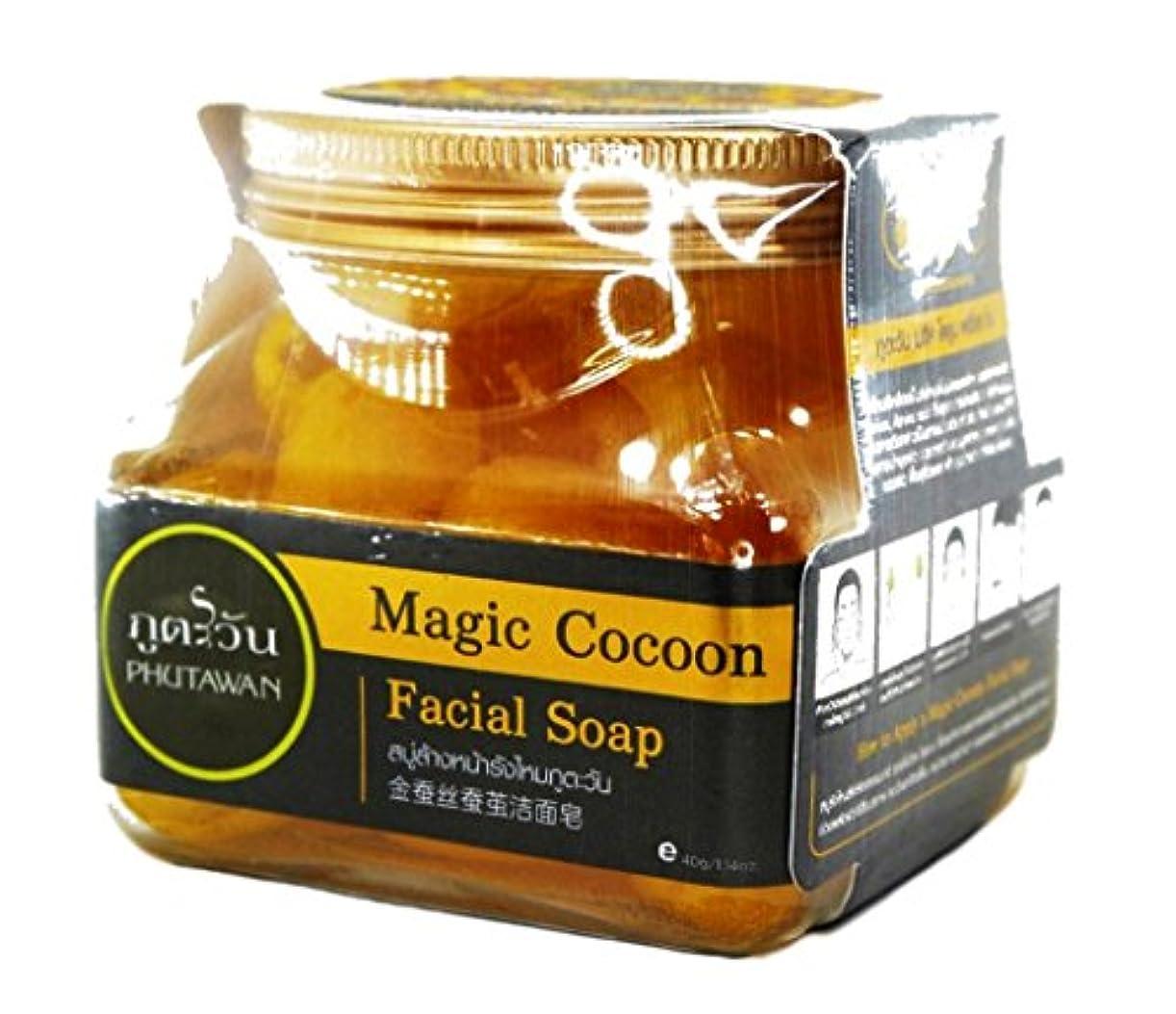 肺炎にぎやか予言する黄金まゆ玉石けんMagic Cocoon Fagic Soap シルク繭のフェイシャルスクラブ 30個入