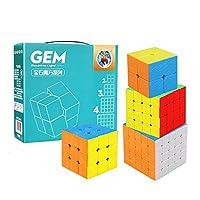 風の翼 - 4パックの宝石シリーズ2×2×2 3×3×3 4×4×4 5×5×5マジックキューブセット、凹面のつや消し表面を持つクリエイティブプロフェッショナルデバッグスピードパズルキューブ