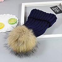 YAYA手作り鹿ニット帽子かぎ針編み服帽子小道具帽子38 CMに46 CM海軍、海軍
