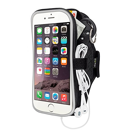 EOTW スポーツ アームバンド 手首バンド ランニングやサイクリングなどのスポーツ&トレーニングに最適なスマホケース、収納ポケット付 iPhone6/6S plus、Xperia XZ/Z5 premium、Galaxy S7edge/Note5等大画面スマホ収納可能 ファッショナブルなトレーニング アームポーチ イヤホーンホルダー付(For レディース)