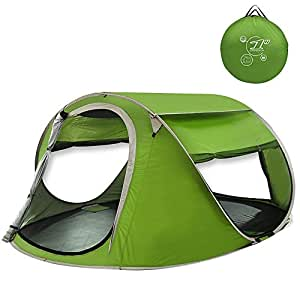 G4Free サンシェード ポップアップテント 2-3人用 180x240cm 簡単設置 UVカット ワンタッチ 軽量 蚊帳付き 防災 登山 撥水 (グリーン)