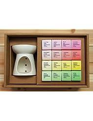 【天然エッセンシャルオイル、天然蜜蝋使用】BlendingCandle コロコロ16(香り:FRUIT+FLORAL+CITRUS+HERB 各4個入り)