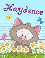 """Kaydence: Personalized Book with Child's Name, Primary Writing Tablet for Kids, 65 Sheets of Practice Paper, 1"""" Ruling, Preschool, Kindergarten, 1st Grade, 8 1/2"""" x 11"""""""