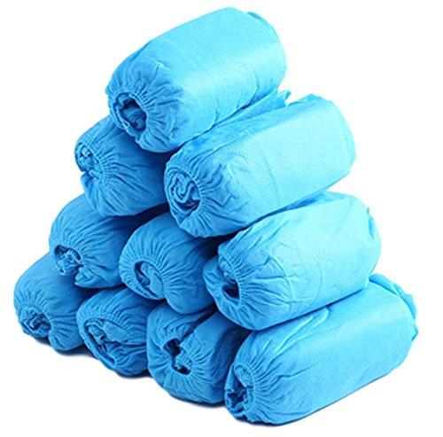 シューズカバー 使い捨て 厚手 不織布 足カバー 100枚 セット (青 100枚)