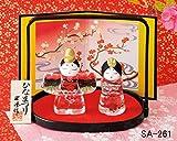 ひな祭り おひなさま 硝子 雛人形 彩絵 硝子立雛 (手籠付)