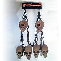 Skull Head Chain Halloween Hanging Prop [並行輸入品]