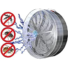 Pinkdose®Solar Powered Buzz Uv Lamp Light Fly Insect Bug Mosquito Kill Zapper Killer Electric Trap Electronic Anti Insect Bug Wasp