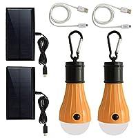 Windpnnポータブルソーラー電球USB充電式LEDランプ、ハリケーン緊急用キャンプ式テント、鶏小屋、小屋、納屋、ハイキング釣り用18650バッテリー式ライトLED照明