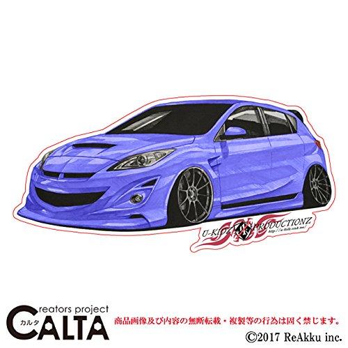 CALTA-ステッカー-アクセラ改-青 (1.Sサイズ)