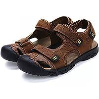 41c950130b0 Asifn Athletic Slides Sandals Sport Men s Summer Beach Leather Hiking  Closed Toe Anti Collision Travel