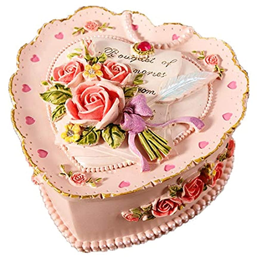 電球嬉しいです主観的宝石箱 可愛い ロココ調 ジュエリーボックス アクセサリー ケース 小物入れ ボックス コレクション インテリア (ローズ?ピンク)【SiSe9】