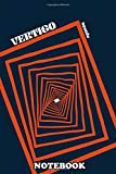 """Notebook: A Movie Poster For Vertigo Directed By Alfred Hitchcock , Journal for Writing, College Ruled Size 6"""" x 9"""", 110 Pages"""
