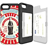 iPhone7plus ケース 《SKINU》カード収納可能・衝撃吸収抜群・傷防止・ミラー付き・スタンド機能・ICカード/クレジットカード完璧収納(アメリカン)
