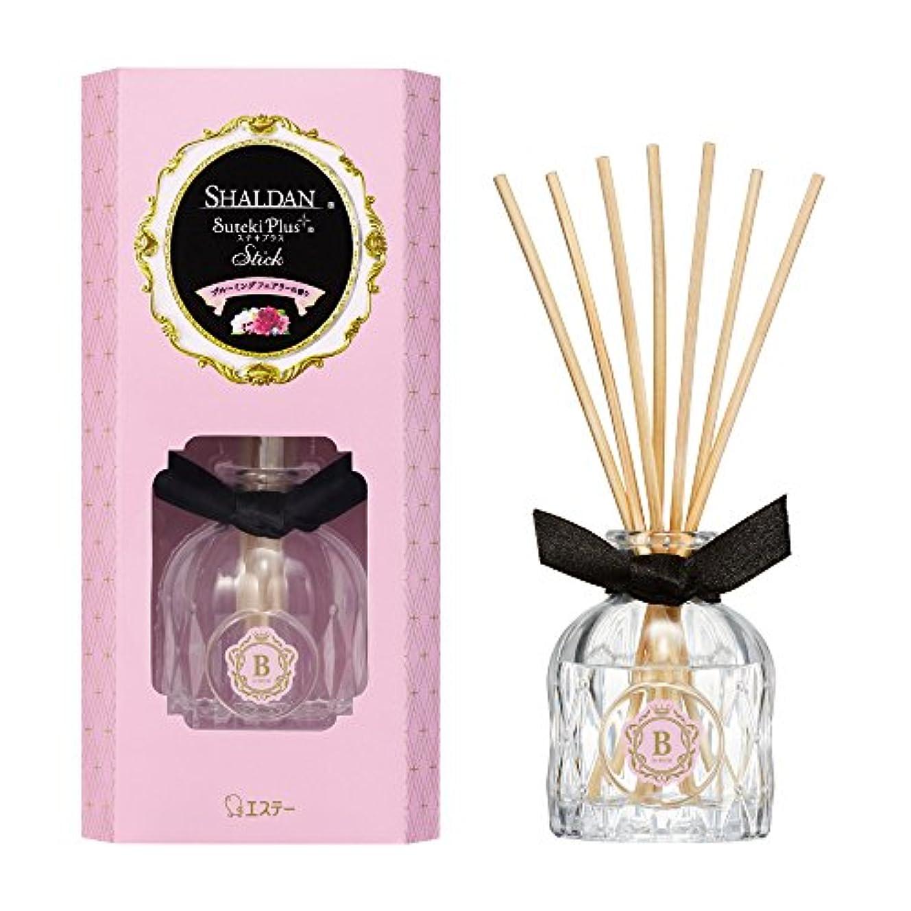 桃徐々につぶすシャルダン SHALDAN ステキプラス スティック 芳香剤 部屋用 ブルーミングフェアリーの香り 45mL