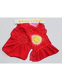 絹の子供用兵児帯 赤のへこ帯 正絹絞り柄入り子供兵児帯 パールトーン加工済 B2282-03