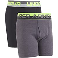 Under Armour Boys' Big 2 Pack Solid Cotton Boxer Briefs