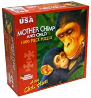 Art by Chris Hiett 1000-Piece Puzzle, Mother Chimp and Child