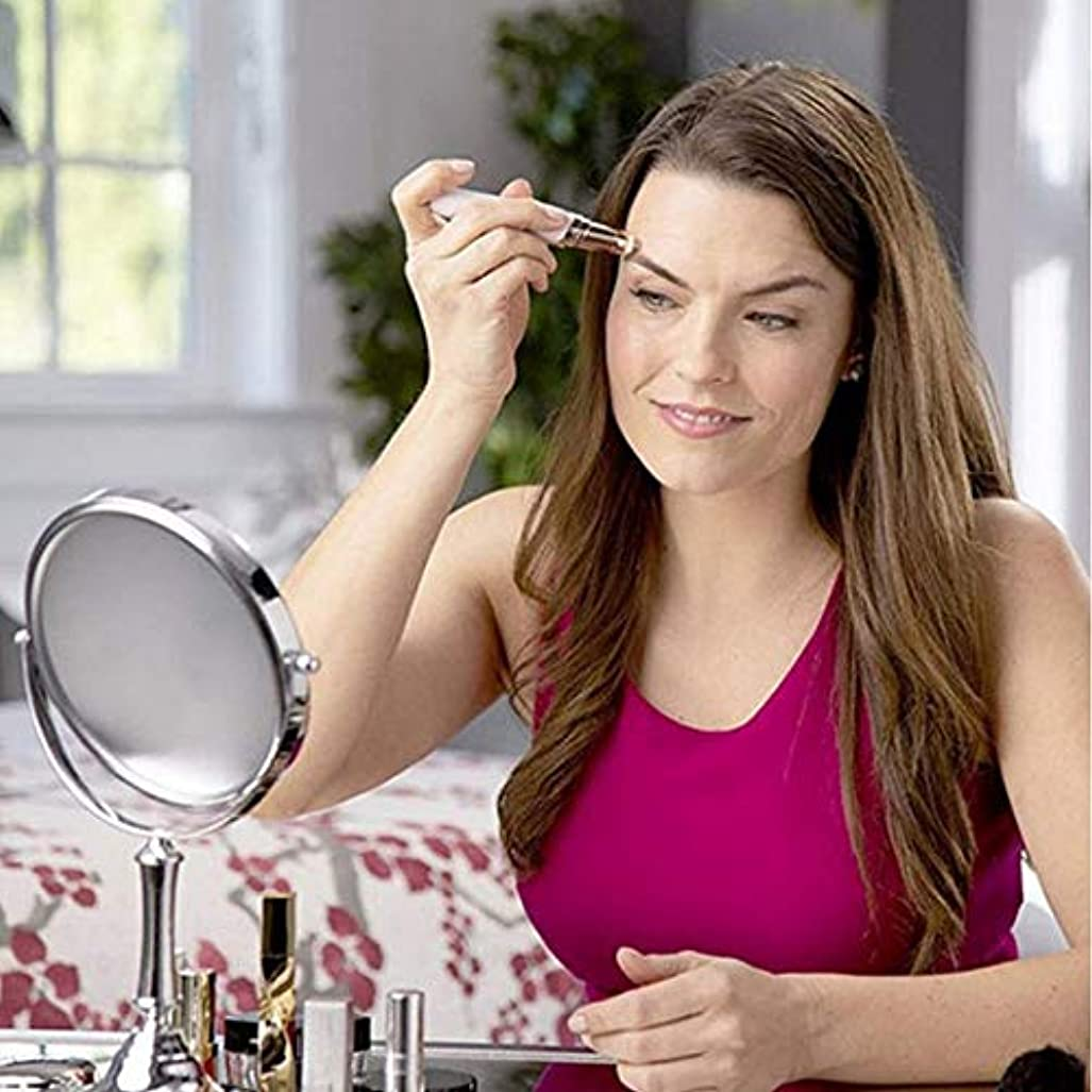 局栄光の優先権眉毛リムーバー、女性のための電気眉毛トリマー脱毛器を充電するusb、ライト付きポータブル痛みのない眉毛シェーバー