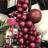 パールバーガンディバルーンガーランドキット ワインレッド ラテックスバルーン パーティーデコレーションキット 大人の誕生日 結婚披露宴 ブライダルシャワー装飾 レッド