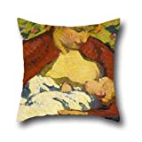 Oil Painting Giovanni Giacometti - Young Mother Throw Cushion Covers 18 X 18 Inches / 45 By 45 Cm For Monther,wedding,office,him,husband,teens Boys With Two Sides