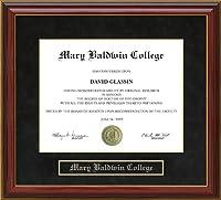 メアリーBaldwin College ( MBC )卒業証書フレーム va-mbc-91-maho