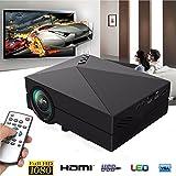 ELEGIANT GM60A 無線Wi-Fi機能追加 Wifホームシアター劇場LEDプロジェクターHD HDMI AV/USB/VGA/SD1080P