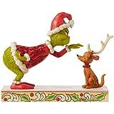 Enesco Grinch by Jim Shore Grinch Petting Max Figurine