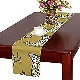 GGSXD テーブルランナー きれいなにわとり クロス 食卓カバー 麻綿製 欧米 おしゃれ 16 Inch X 72 Inch (40cm X 182cm) キッチン ダイニング ホーム デコレーション モダン リビング 洗える