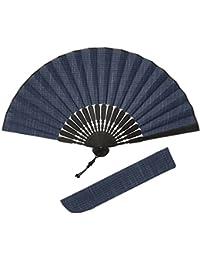 (ハクチクドウ) Hakuchikudo(ハクチクドウ) つむぎかすり扇子セット (全3種類)