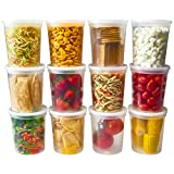 DuraHome - Deli Food Storage Containers With Lids 32 Ounce, Quart Pack of 24 - Plastic Microwaveable Container