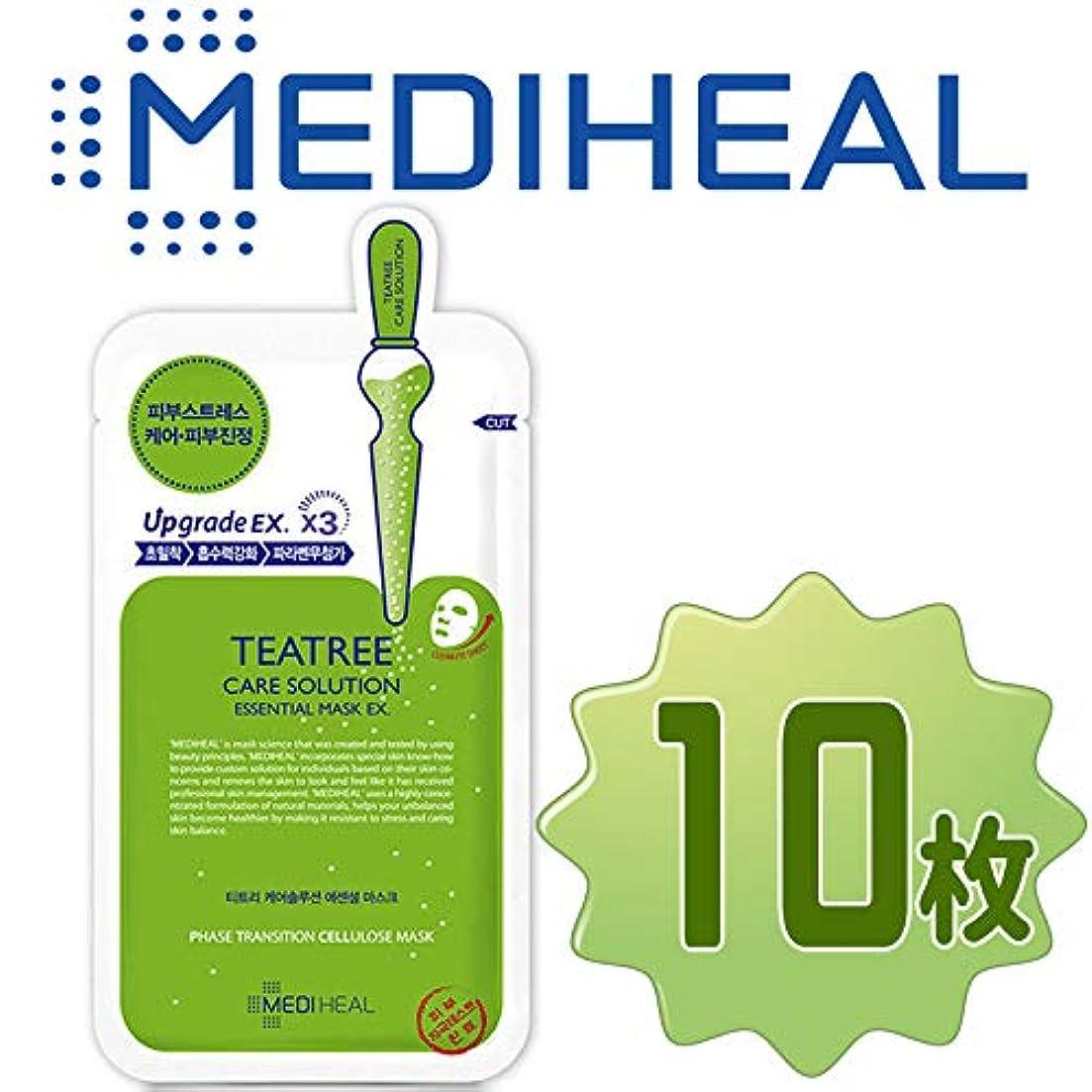 耐久圧力沈黙【正規輸入品】Mediheal メディヒール ティーツリー?ヒーリング?エッセンシャル?マスクパック10枚 (Teatree Healing Essential Mask Pack 10sheet)