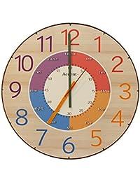 Accent+ 知育時計 クロキッズ 掛け時計 子供部屋 学習 カラフル 大きい 大型 60cm