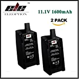 ELEOPTION ドローン用バッテリー 互換バッテリー 高品質 大容量 11.1V 1600mAh 充電式電池 適用機種 Parrot BEBOP ドローン 3.0 Quadc..