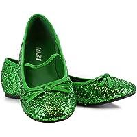 Green Sparkle Flat Shoes グリーンはフラットシューズ子供スパークル?ハロウィン?クリスマス?02/03