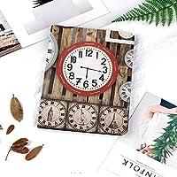 IPadケース スマートカバー アイパッドケース タブレットカバー アイパッド第四世代 第三世代 時間ヴィンテージ装飾的なパターンの壁の楽器のアンティーク時計