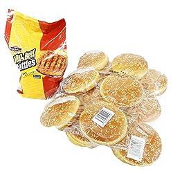 ハンバーガー バンズ&パティ(ビーフ)セット (オレンジベイフーズ100%ビーフパティ&ビックバーガー バンズ12PC)【冷凍】