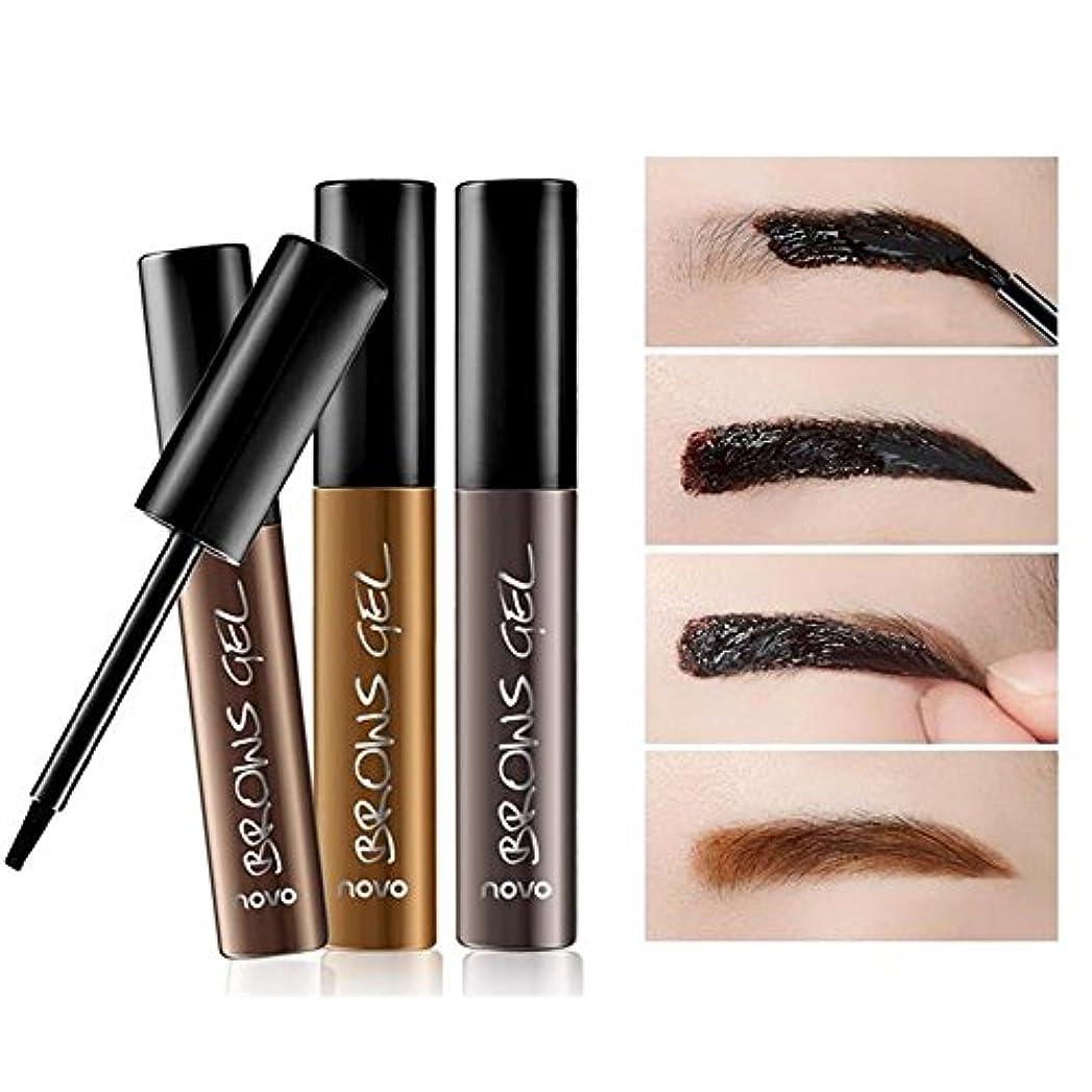 6グラムの女性のピールオフ防水タトゥー眉毛の眉ジェルシャドウ色素ティントクリーム 使いやすい 01#暗褐色