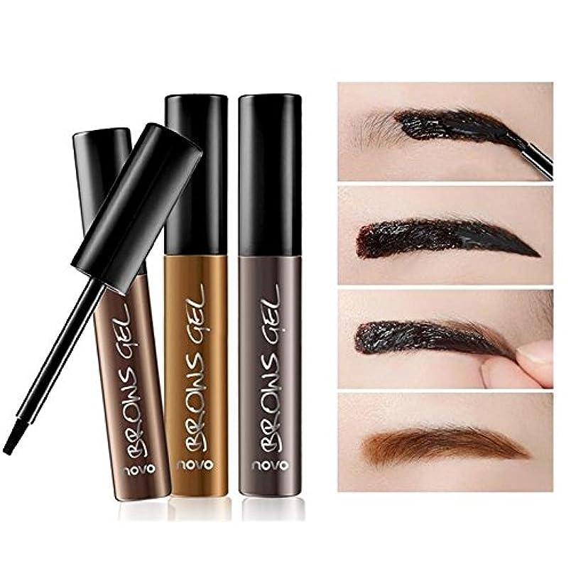 トランペットコンプリートアプローチ6グラムの女性のピールオフ防水タトゥー眉毛の眉ジェルシャドウ色素ティントクリーム 使いやすい 01#暗褐色