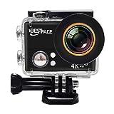 【改良版】Bestface アクションカメラ 4K WiFi搭載 スポーツカメラ アラブルカメラ 45M防水 4K IPX8防水ケース搭載 1400万画素 170度広角レンズ 2インチ液晶画面 バイクや自転車や車に取り付け可能 防犯カメラ (60X41X22(mm))
