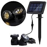Lixada 12 LEDsソーラーパワードライト 水中ランプ 光センサー プロジェクターライト ガーデン プール 池 庭 水中スポットライト 屋外照明