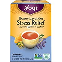 海外直送品Yogi Teas / Golden Temple Tea Co Stress Relief Tea Honey Lavender, Honey Lavender 16 tea bags