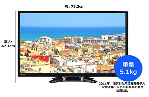 オリオン 32V型 1波(地上デジタル) ハイビジョン液晶テレビ ブルーライトガード搭載 ブラック NHC-321B